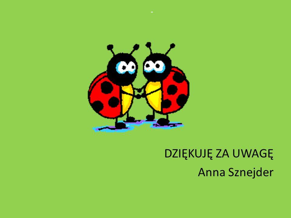 DZIĘKUJĘ ZA UWAGĘ Anna Sznejder