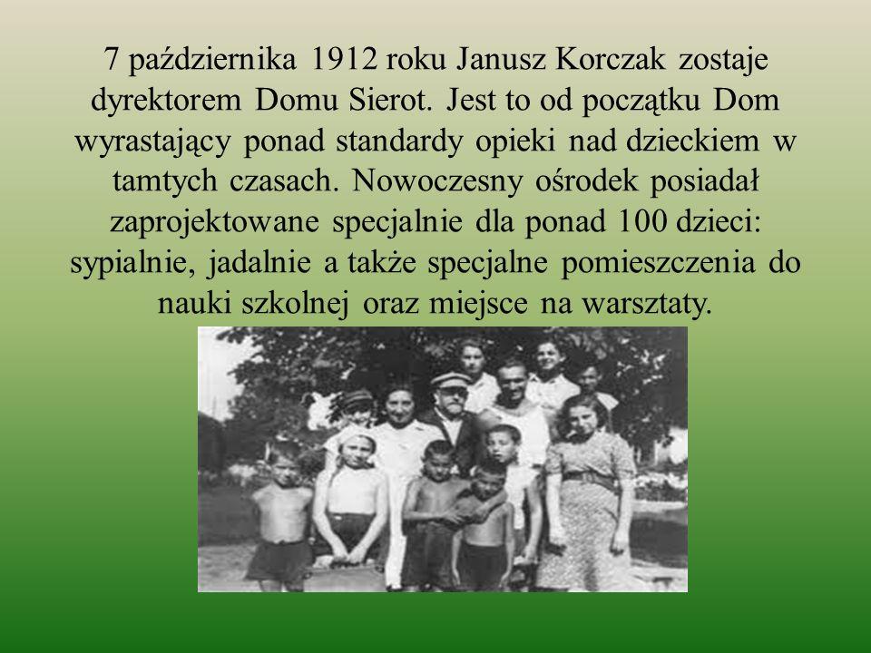 W Domu Sierot… Janusz Korczak razem ze Stefanią Wilczyńską tworzy oryginalny, autorski program wychowawczy.