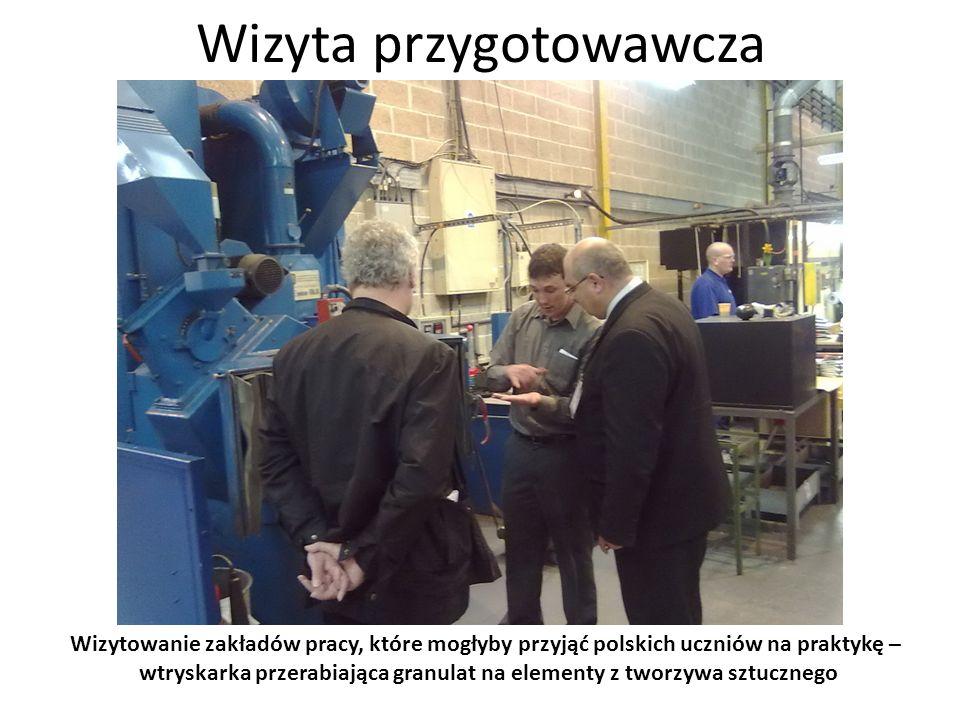 Wizyta przygotowawcza Wizytowanie zakładów pracy, które mogłyby przyjąć polskich uczniów na praktykę – jeden z gotowych elementów – bęben nawijarki węży ciśnieniowych