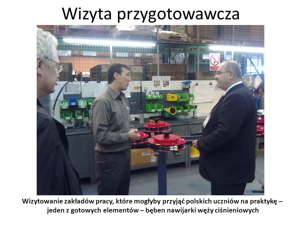 Wizyta przygotowawcza Wizytowanie zakładów pracy, które mogłyby przyjąć polskich uczniów na praktykę – makieta masztu wózka widłowego