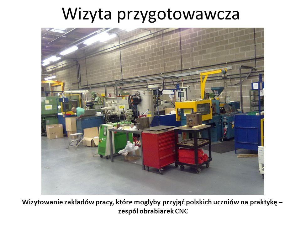 Wizyta przygotowawcza Wizytowanie zakładów pracy, które mogłyby przyjąć polskich uczniów na praktykę – wtryskiwarka sterowana numerycznie