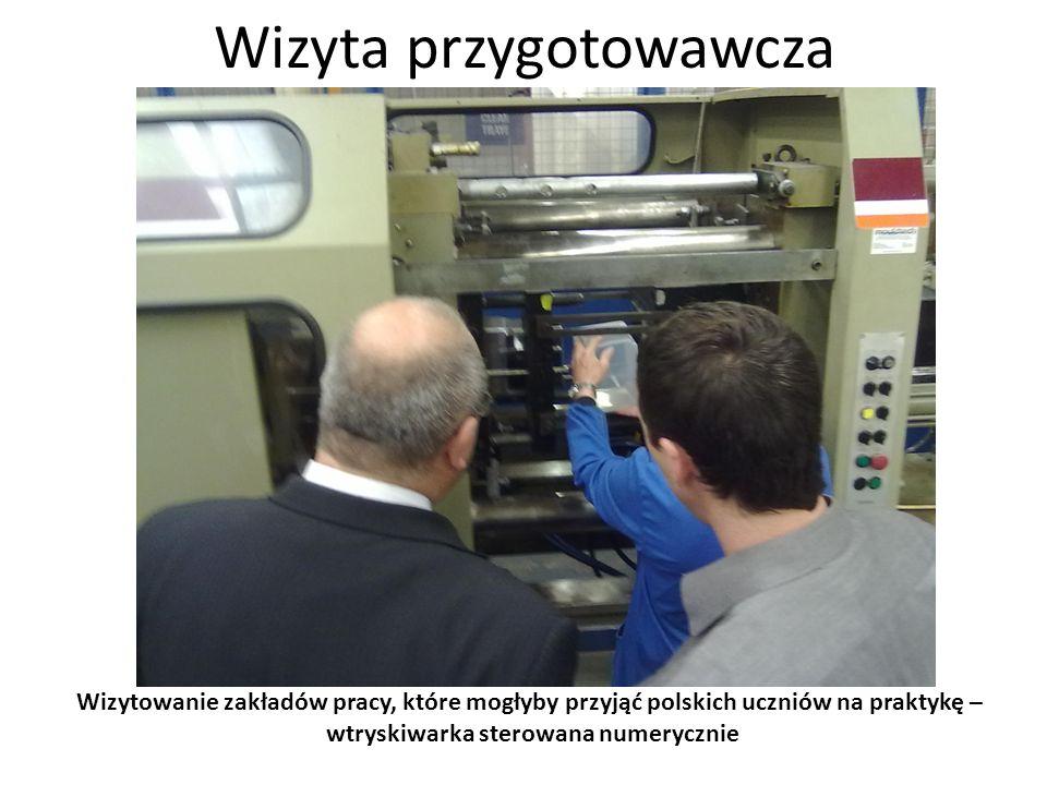 Wizyta przygotowawcza Wizytowanie zakładów pracy, które mogłyby przyjąć polskich uczniów na praktykę – tablica jakości