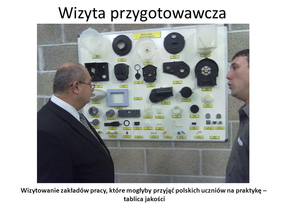 Wizyta przygotowawcza Wizytowanie zakładów pracy, które mogłyby przyjąć polskich uczniów na praktykę – obrabiarka CNC