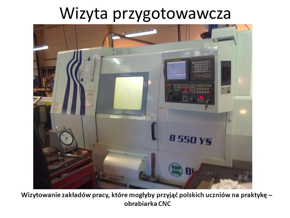 Wizyta przygotowawcza Wizytowanie zakładów pracy, które mogłyby przyjąć polskich uczniów na praktykę – dział elektryczny