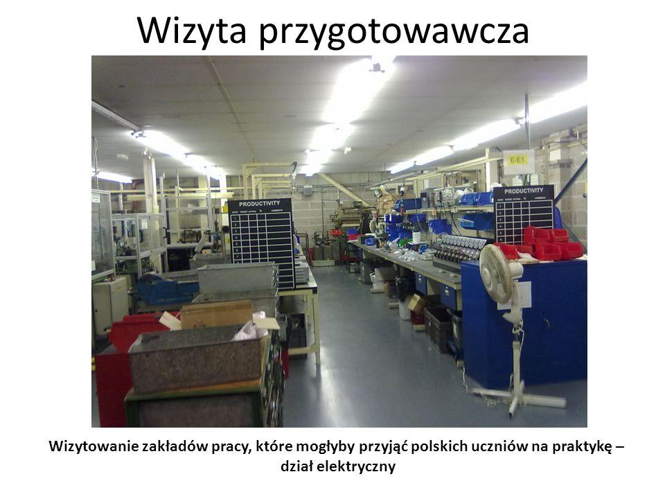 Wizyta przygotowawcza Wizytowanie zakładów pracy, które mogłyby przyjąć polskich uczniów na praktykę – oglądanie elementów produktu końcowego obrabiarki CNC