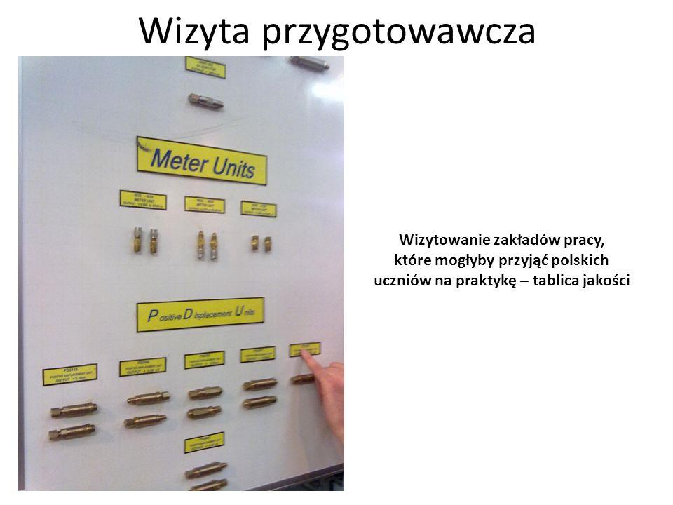 Wizyta przygotowawcza Wizytowanie zakładów pracy, które mogłyby przyjąć polskich uczniów na praktykę – montaż elektronik