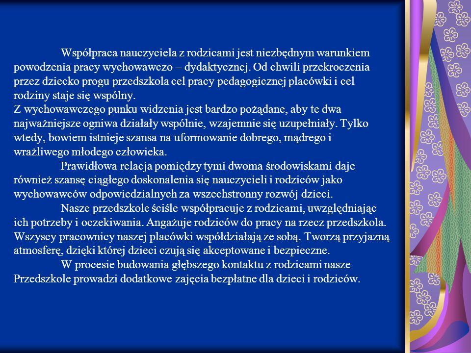 Zabawa ruchowo- inscenizacyjna do piosenki Malowała jesień / podział na postacie występujące w piosence: wietrzyk, jesień, sroczka/; 7.Masażyk w parach: rodzic- dziecko.