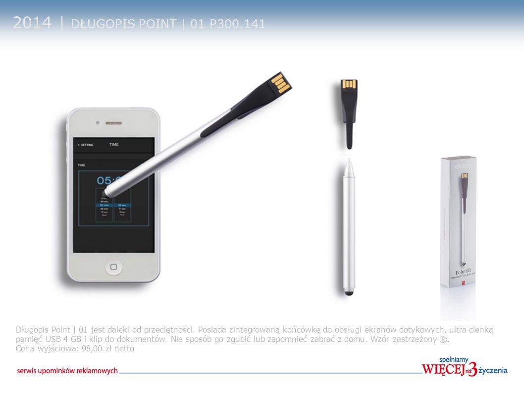 2014 | DŁUGOPIS POINT | 01 P300.141 Długopis Point | 01 jest daleki od przeciętności. Posiada zintegrowaną końcówkę do obsługi ekranów dotykowych, ult