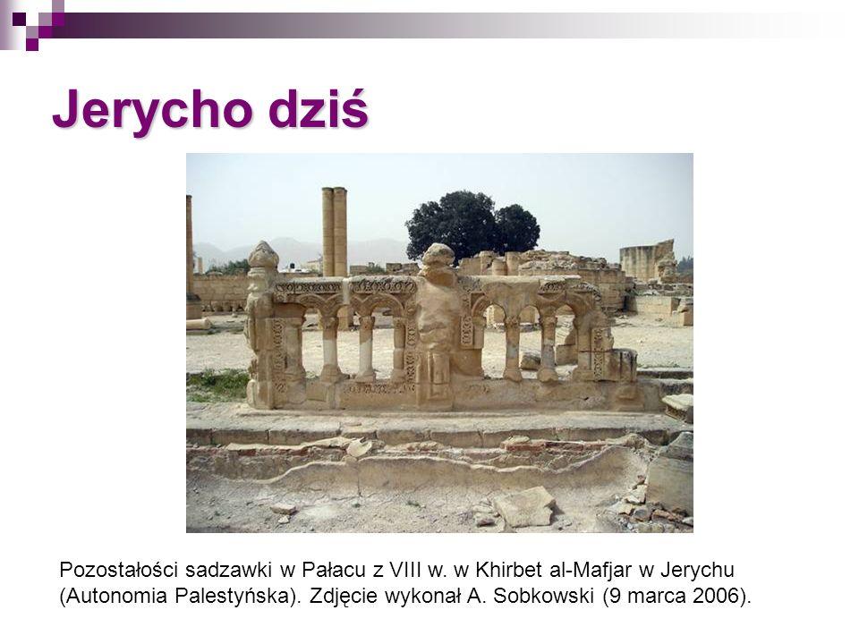 Jerycho dziś Pozostałości sadzawki w Pałacu z VIII w. w Khirbet al-Mafjar w Jerychu (Autonomia Palestyńska). Zdjęcie wykonał A. Sobkowski (9 marca 200