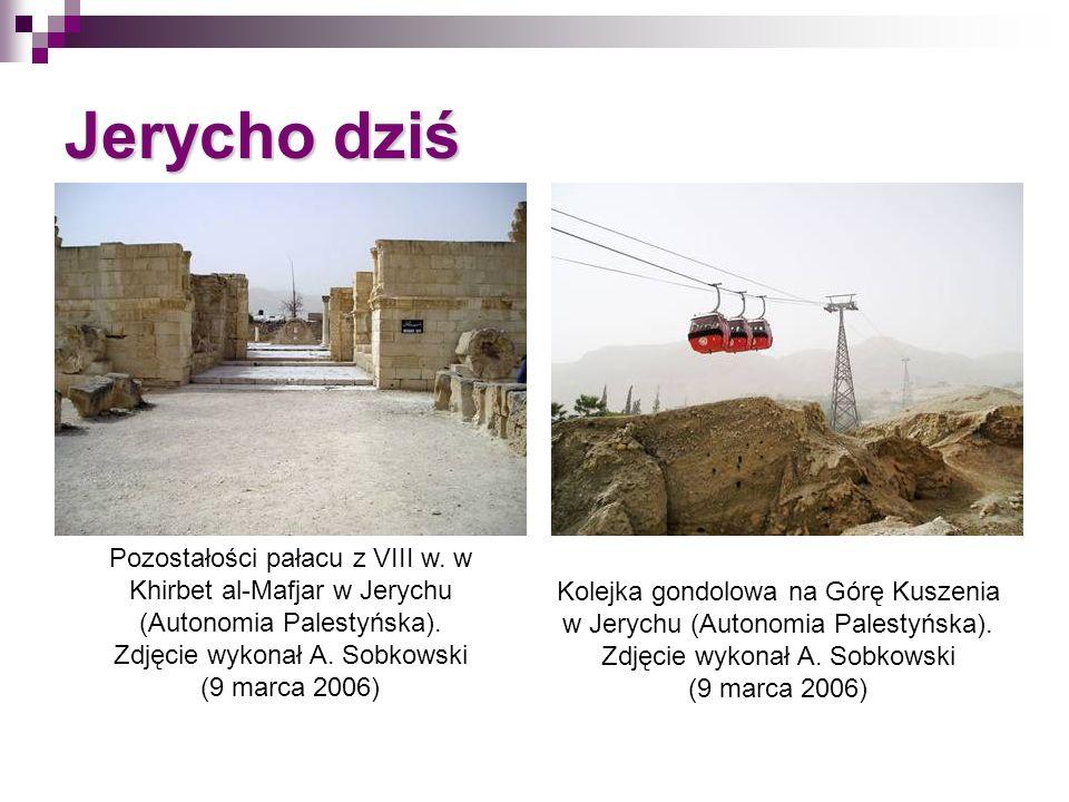 Jerycho dziś Pozostałości pałacu z VIII w. w Khirbet al-Mafjar w Jerychu (Autonomia Palestyńska). Zdjęcie wykonał A. Sobkowski (9 marca 2006) Kolejka