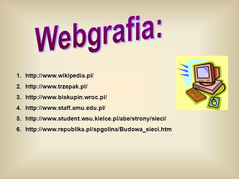 1.http://www.wikipedia.pl/ 2.http://www.trzepak.pl/ 3.http://www.biskupin.wroc.pl/ 4.http://www.staff.amu.edu.pl/ 5.http://www.student.wsu.kielce.pl/a