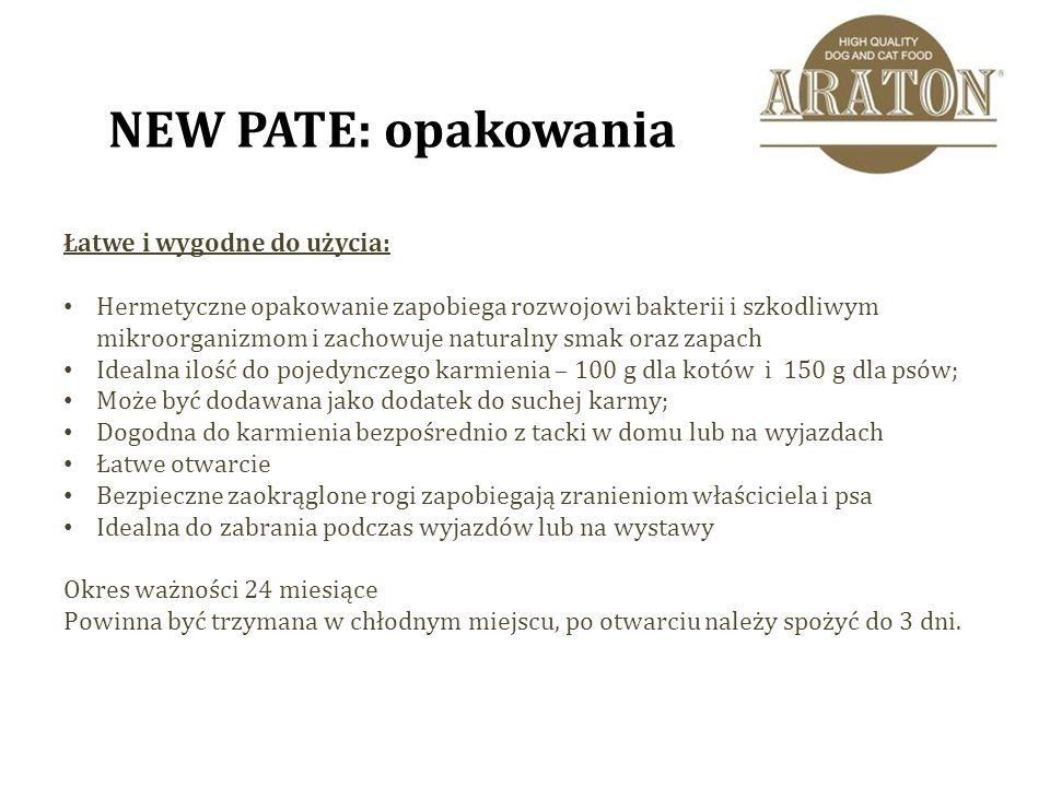 ARATON PATE dla kotów i psów - smaczne produkty najwyższej jakości zapewniające pełne odżywianie!