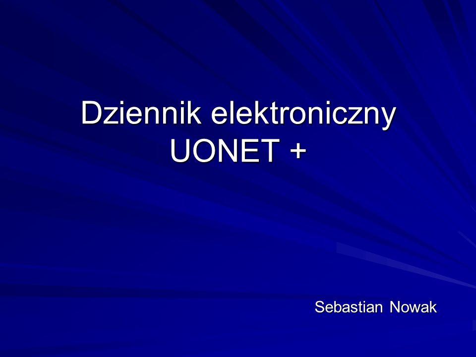 Dziennik elektroniczny UONET + Sebastian Nowak