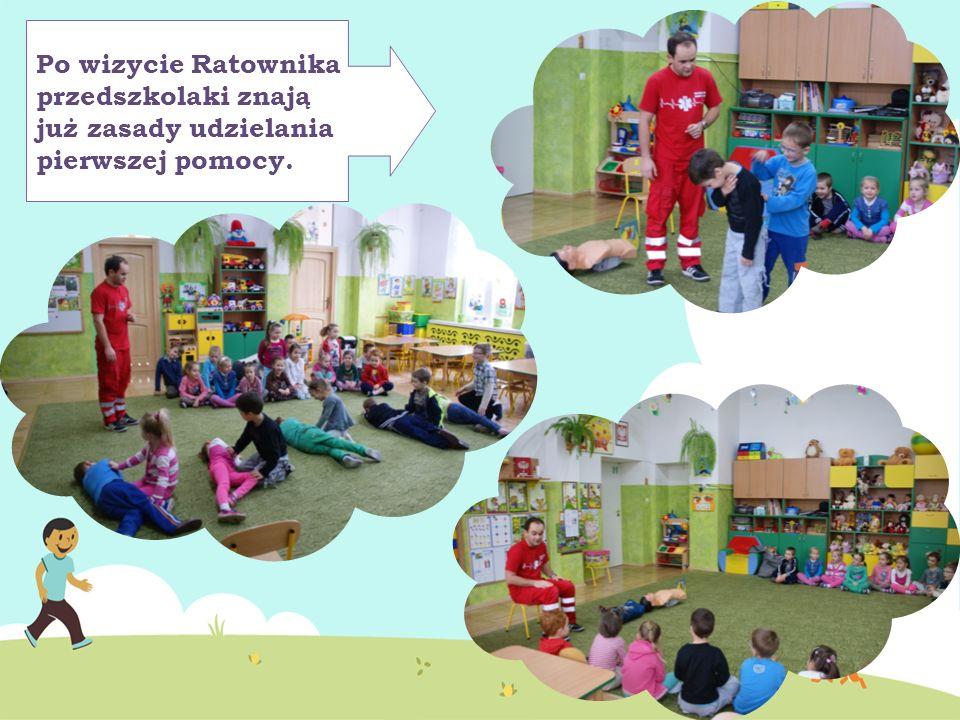 Po wizycie Ratownika przedszkolaki znają już zasady udzielania pierwszej pomocy.
