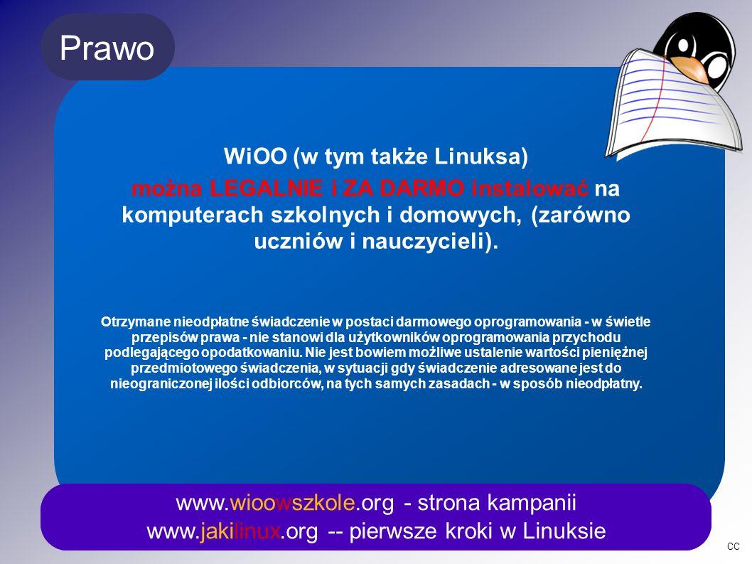 CC Fizyka www.wioowszkole.org - strona kampanii www.jakilinux.org -- pierwsze kroki w Linuksie