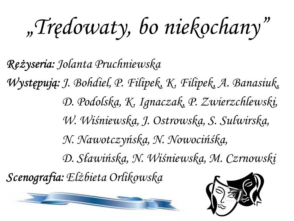 Trędowaty, bo niekochany Reżyseria: Jolanta Pruchniewska Występują: J.