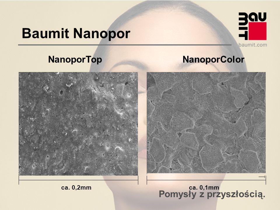 Pomysły z przyszłością. Baumit Nanopor NanoporTopNanoporColor ca. 0,2mmca. 0,1mm