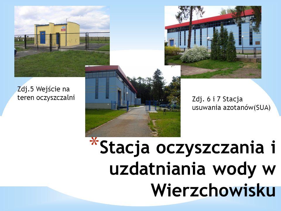 * Stacja oczyszczania i uzdatniania wody w Wierzchowisku Zdj.5 Wejście na teren oczyszczalni Zdj. 6 i 7 Stacja usuwania azotanów(SUA)