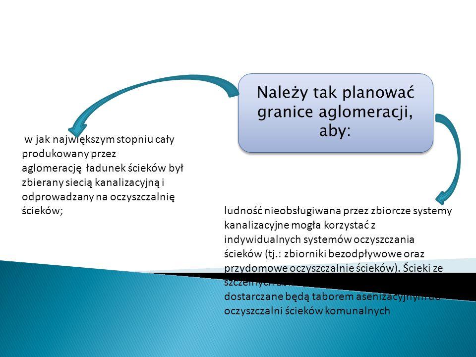 ludność nieobsługiwana przez zbiorcze systemy kanalizacyjne mogła korzystać z indywidualnych systemów oczyszczania ścieków (tj.: zbiorniki bezodpływow