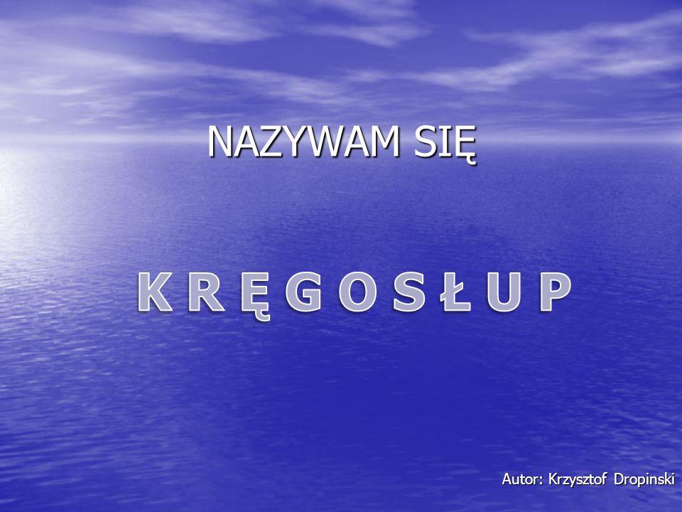 NAZYWAM SIĘ Autor: Krzysztof Dropinski