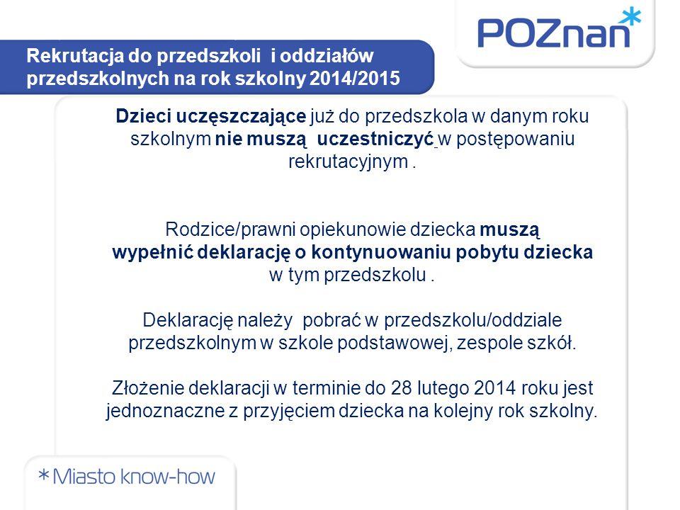 Rekrutacja do przedszkoli i oddziałów przedszkolnych na rok szkolny 2014/2015 Postępowanie rekrutacyjne można podzielić na dwa etapy: 1)rekrutacja zasadnicza, 2)rekrutacja uzupełniająca.