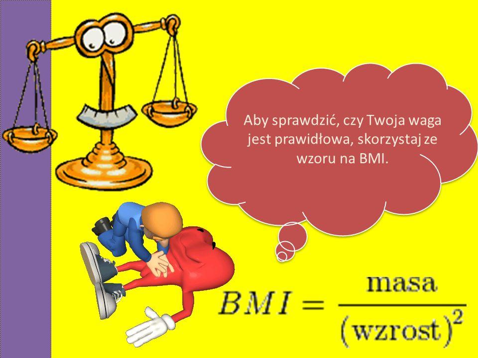 Aby sprawdzić, czy Twoja waga jest prawidłowa, skorzystaj ze wzoru na BMI.