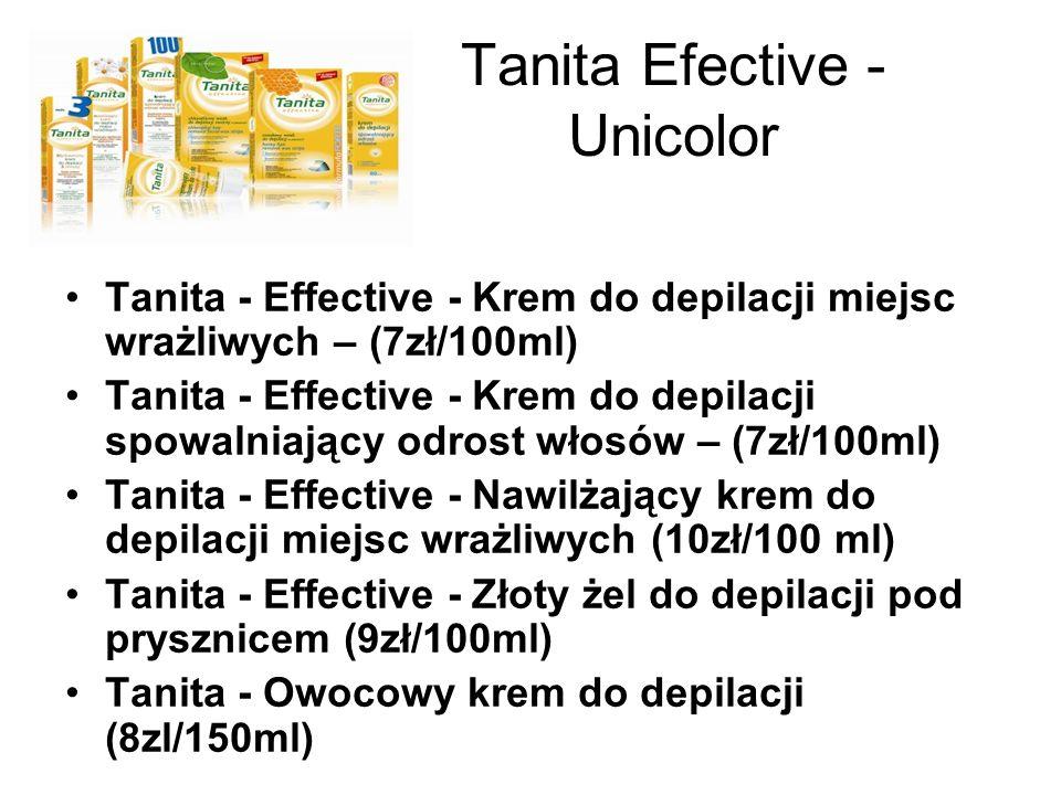 Tanita Efective - Unicolor Tanita - Effective - Krem do depilacji miejsc wrażliwych – (7zł/100ml) Tanita - Effective - Krem do depilacji spowalniający