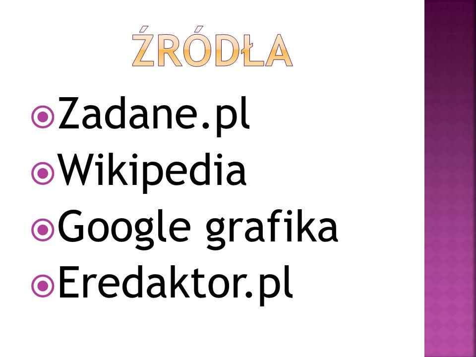Zadane.pl Wikipedia Google grafika Eredaktor.pl