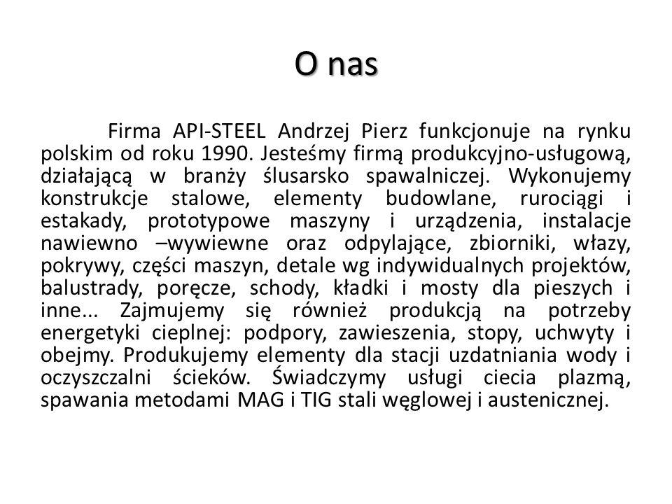 O nas Firma API-STEEL Andrzej Pierz funkcjonuje na rynku polskim od roku 1990.