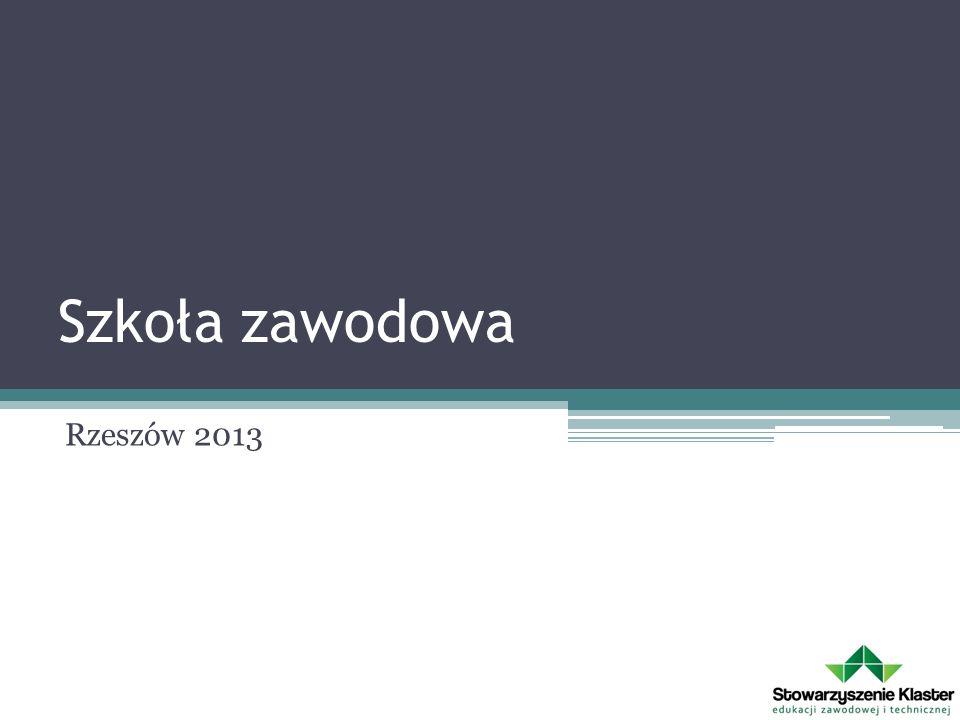 Szkoła zawodowa Rzeszów 2013