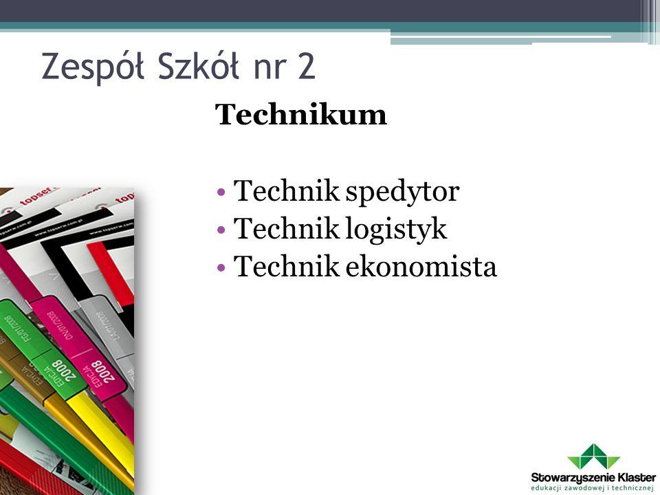 Zespół Szkół nr 2 Technikum Technik spedytor Technik logistyk Technik ekonomista