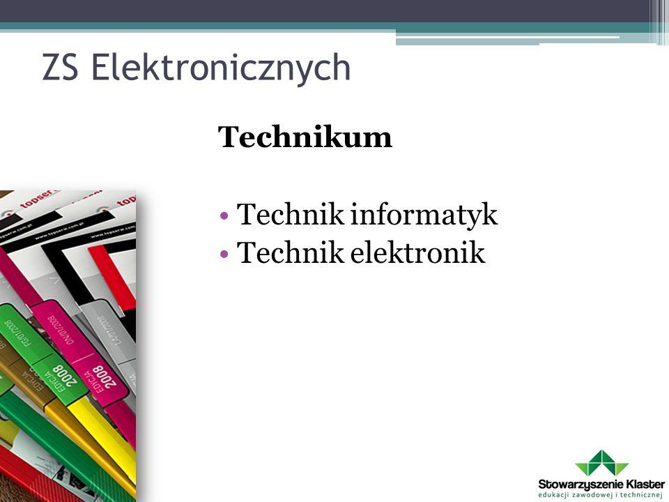 ZS Energetycznych Technikum Technik informatyk Technik elektronik Technik energetyk Technik elektryk ZSZ Elektryk Operator obrabiarek skrawających Ślusarz