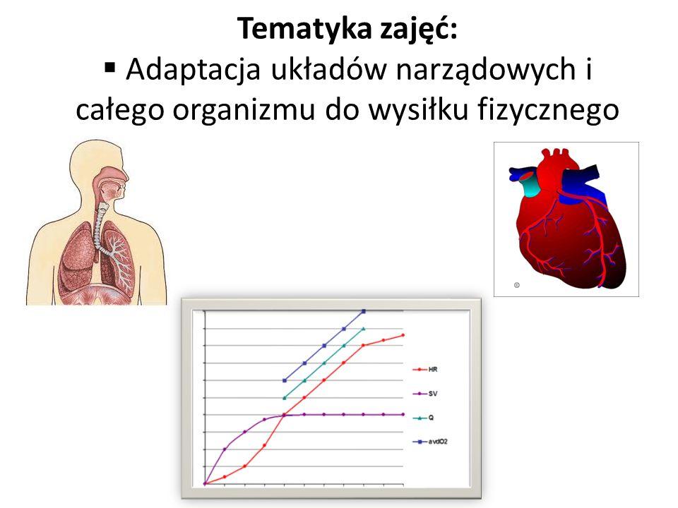 Tematyka zajęć: Adaptacja układów narządowych i całego organizmu do wysiłku fizycznego