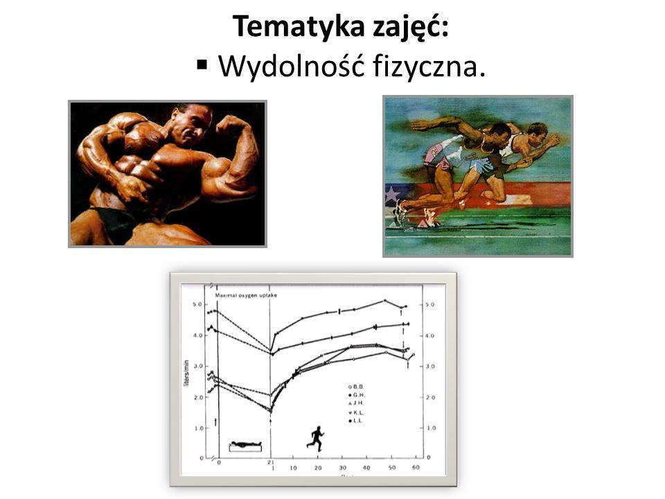 Tematyka zajęć: Sposoby oceny pułapu tlenowego (VO 2 max)