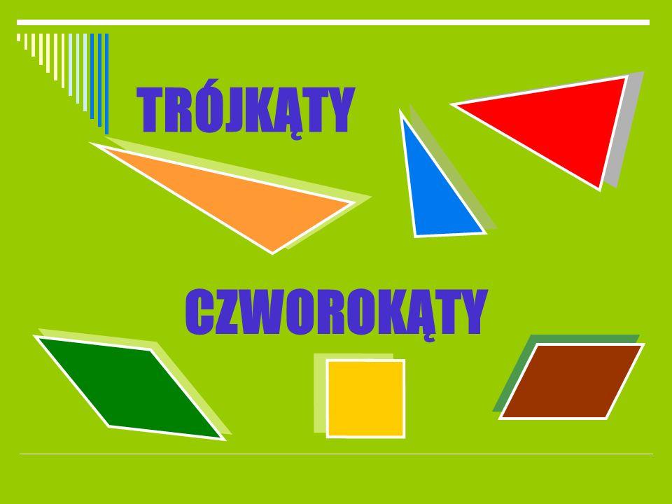 TRÓJKĄT to wielokąt o najmniejszej liczbie boków Trójkąt ma: trzy boki trzy kąty wewnętrzne trzy wierzchołki Suma miar kątów wewnętrznych trójkąta jest równa 180 stopni Suma długości dwóch dowolnych boków w trójkącie musi być większa od długości trzeciego boku