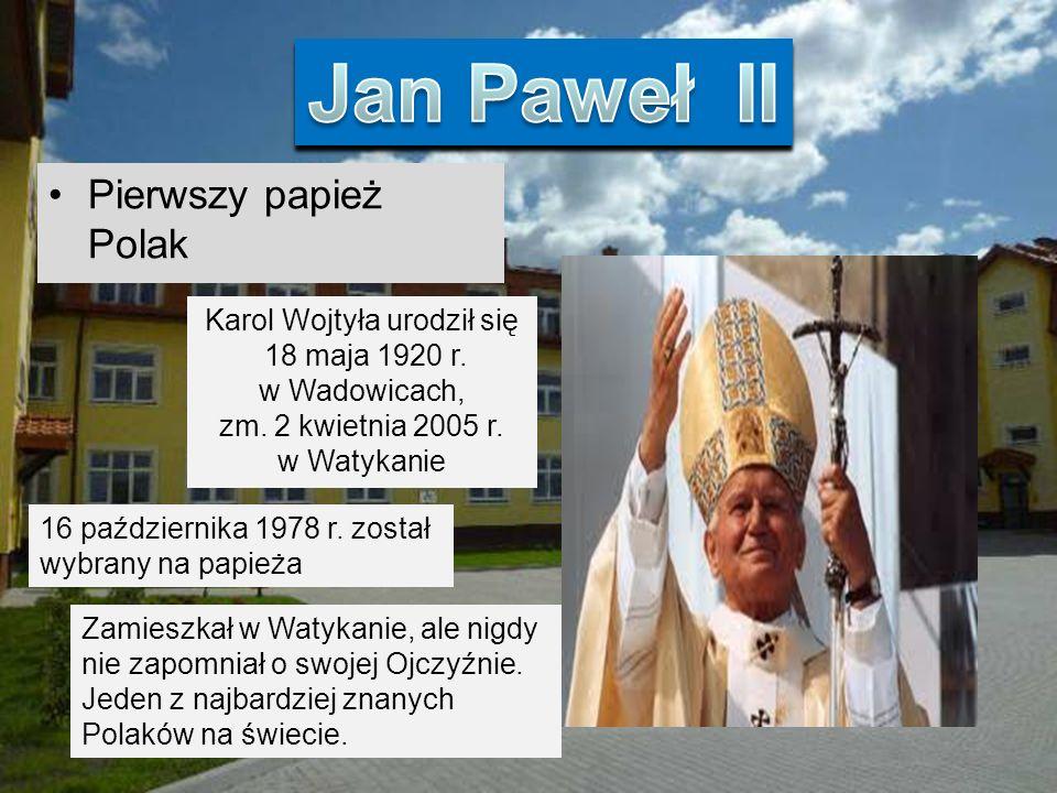 Pierwszy papież Polak Karol Wojtyła urodził się 18 maja 1920 r.