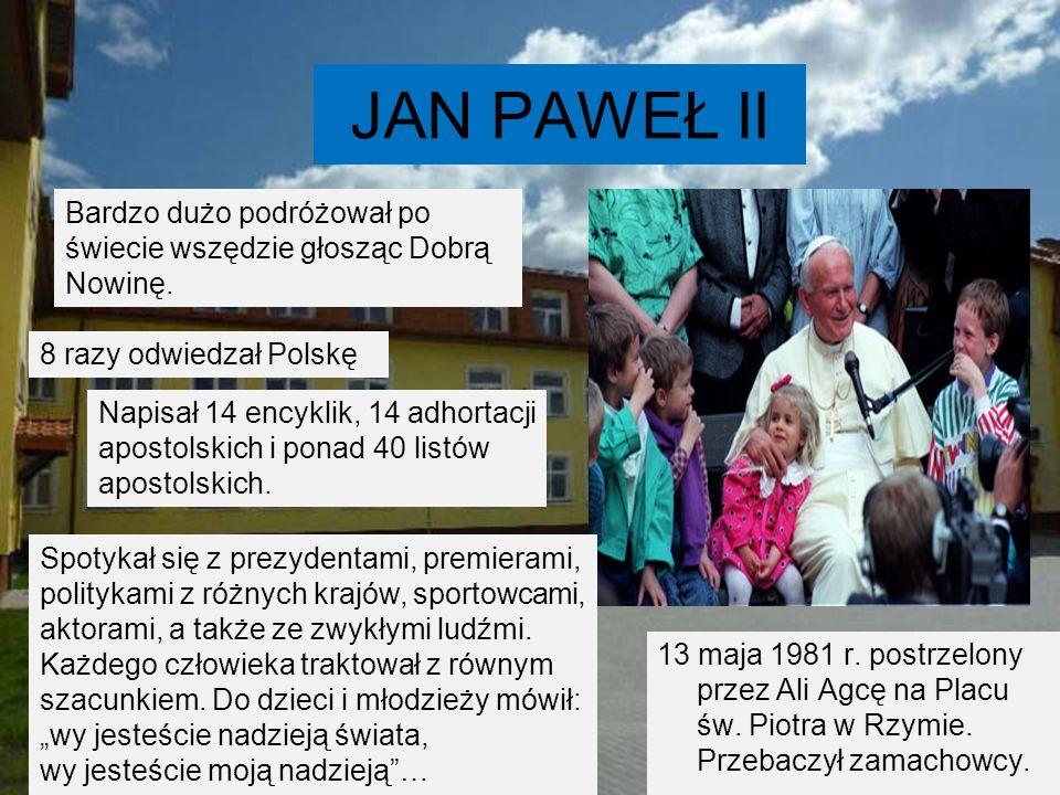 JAN PAWEŁ II Papież był osobą, która swym zachowaniem, słowami i wiarą dawała przykład do naśladowania.