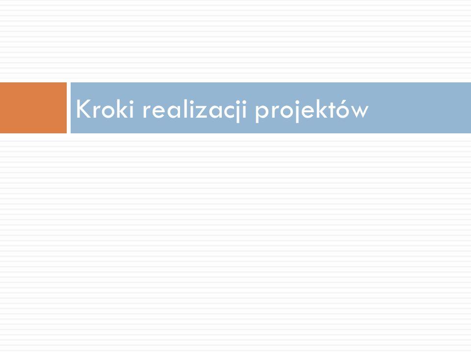 Kroki realizacji projektów