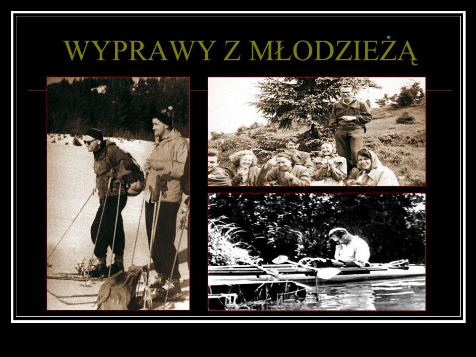 Modlitwa Karola Wojtyły w kajaku Początki kajakowej pasji sięgają roku 1953 kiedy to płynął Brdą od Nowej Brdy do Bydgoszczy, na który to szlak wrócił jeszcze w roku 1966 i 1972 Karol z uczniami