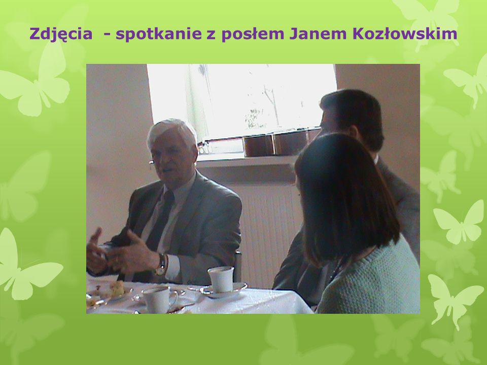 Zdjęcia - spotkanie z posłem Janem Kozłowskim