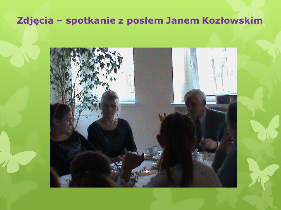 Zdjęcia – spotkanie z posłem Janem Kozłowskim