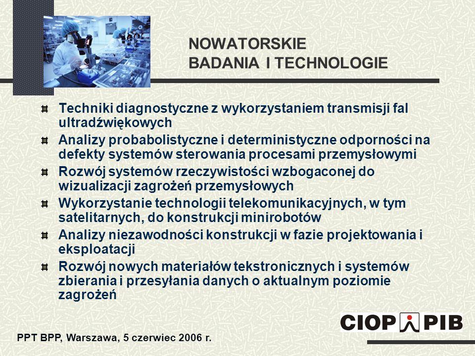 NOWATORSKIE BADANIA I TECHNOLOGIE Techniki diagnostyczne z wykorzystaniem transmisji fal ultradźwiękowych Analizy probabolistyczne i deterministyczne