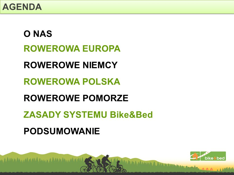 TURYŚCI AKTYWNI W POLSCE 1/3 Źródło: PSWE – szacunki na podstawie własnych badań ankietowych 9,3MLN liczba Polaków spędza cześć swojego czasu na rowerze 29% populacji