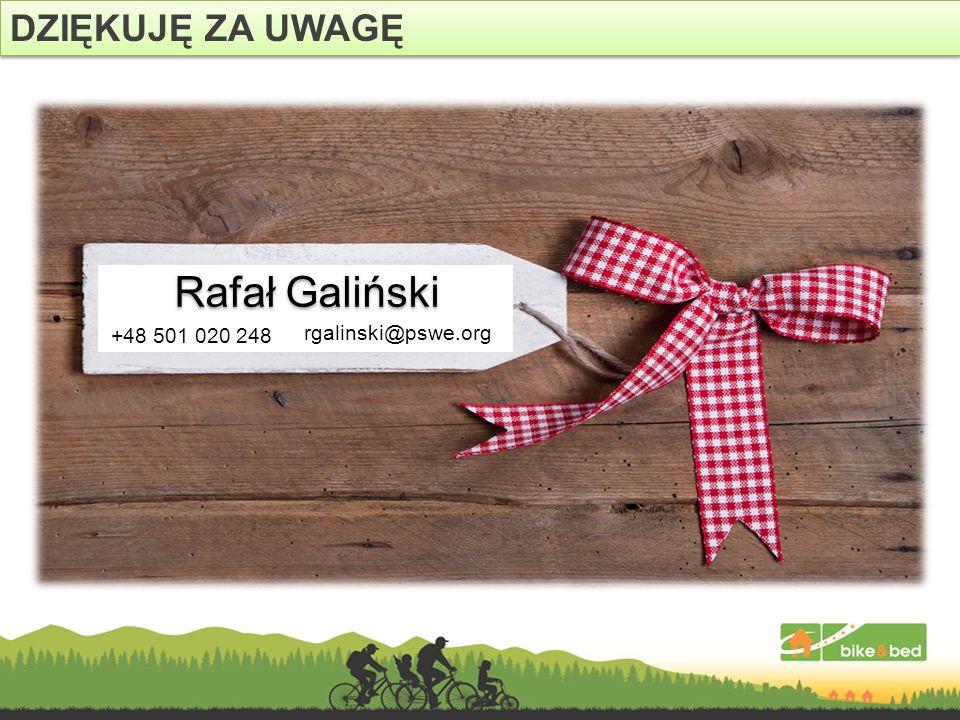 DZIĘKUJĘ ZA UWAGĘ Rafał Galiński +48 501 020 248 rgalinski@pswe.org