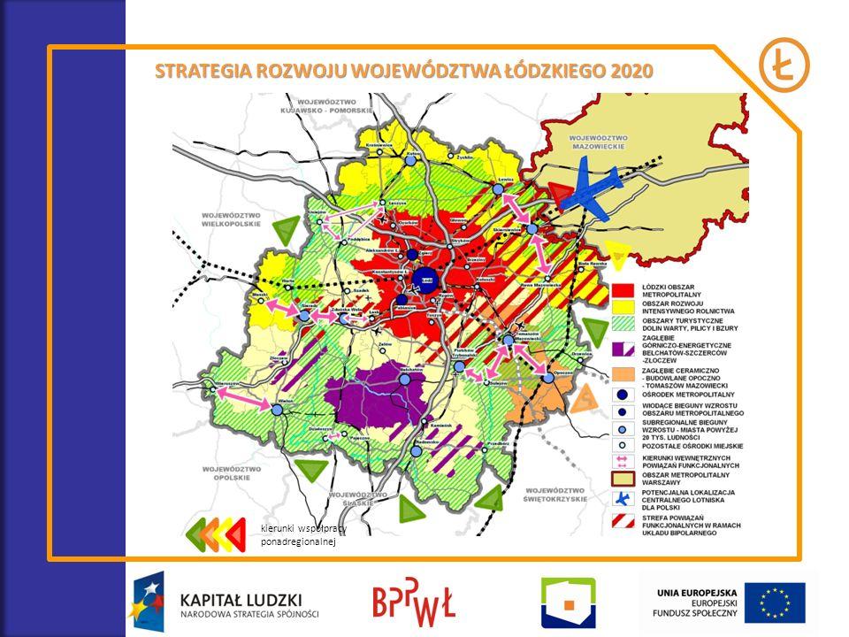 kierunki współpracy ponadregionalnej STRATEGIA ROZWOJU WOJEWÓDZTWA ŁÓDZKIEGO 2020
