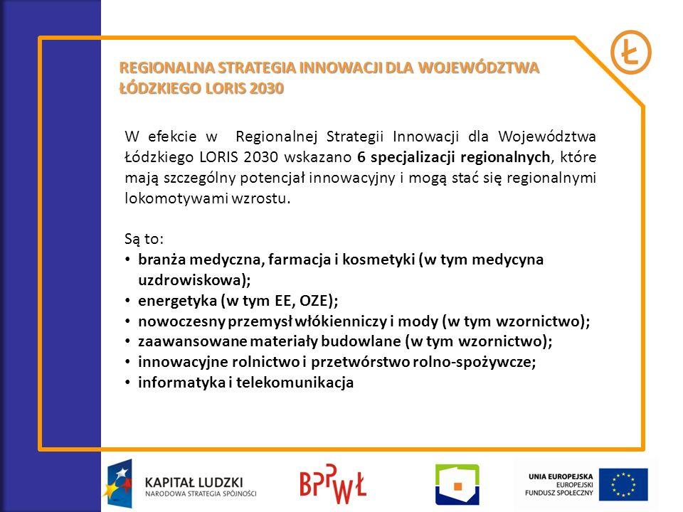 REGIONALNA STRATEGIA INNOWACJI DLA WOJEWÓDZTWA ŁÓDZKIEGO LORIS 2030 W efekcie w Regionalnej Strategii Innowacji dla Województwa Łódzkiego LORIS 2030 w