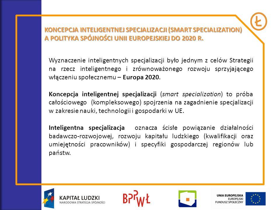 KONCEPCJA INTELIGENTNEJ SPECJALIZACJI (SMART SPECIALIZATION) A POLITYKA SPÓJNOŚCI UNII EUROPEJSKIEJ DO 2020 R. Wyznaczenie inteligentnych specjalizacj