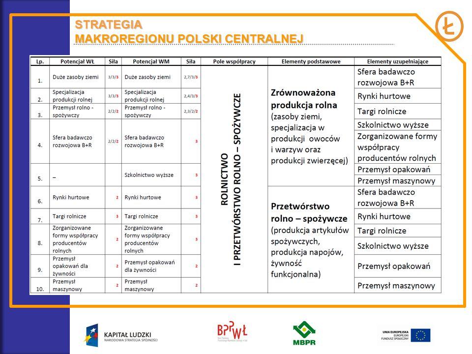 STRATEGIA MAKROREGIONU POLSKI CENTRALNEJ