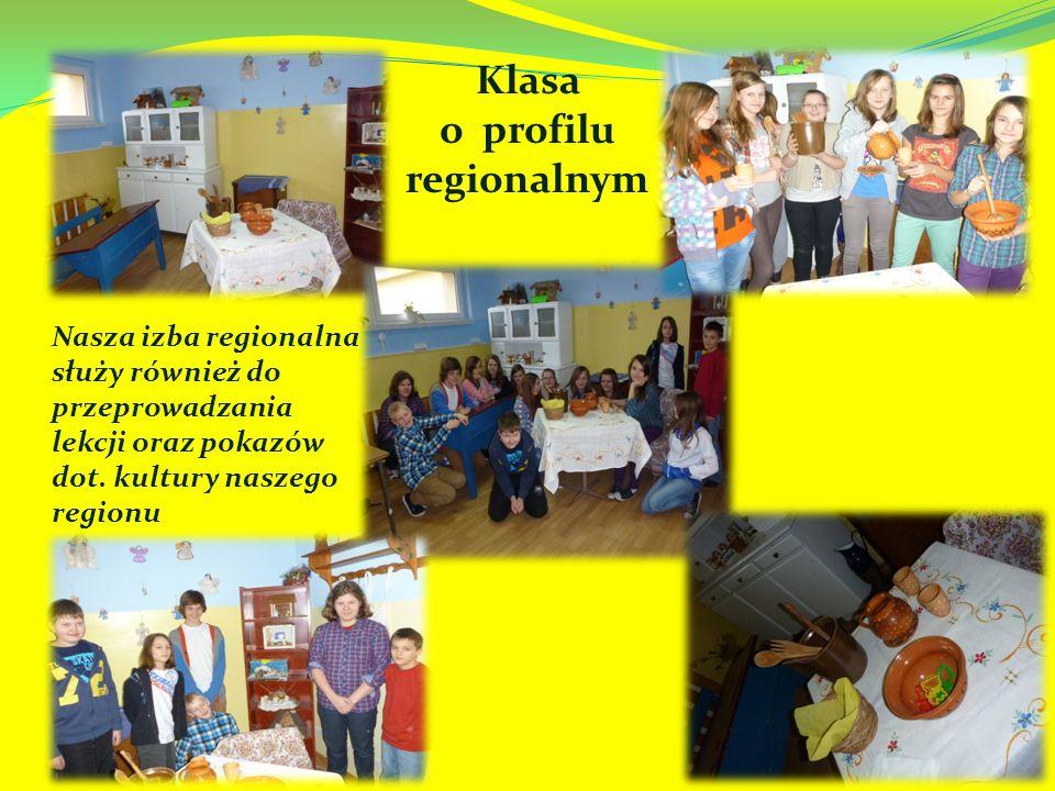 Nasza izba regionalna służy również do przeprowadzania lekcji oraz pokazów dot.