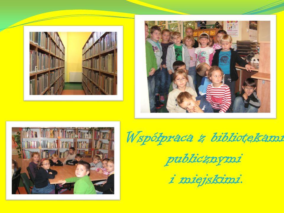 Współpraca z bibliotekami publicznymi i miejskimi.